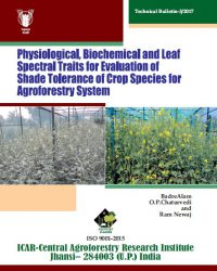 Physiological, Biochemical and Leaf Spectral Traits for Evaluation of Shade Tolerance of Crop Species for Agroforestry System